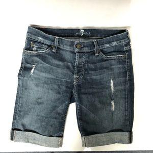 7 for All Mankind denim Capri shorts